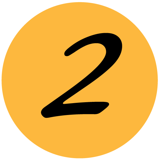 Graphic of the number two